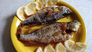 Рыба жареная  ммм пальчики оближешь   fried fish