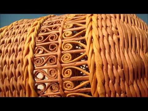 Плетение самовара из газетных трубочек. Урок 6.  Плетение ножки самовара.
