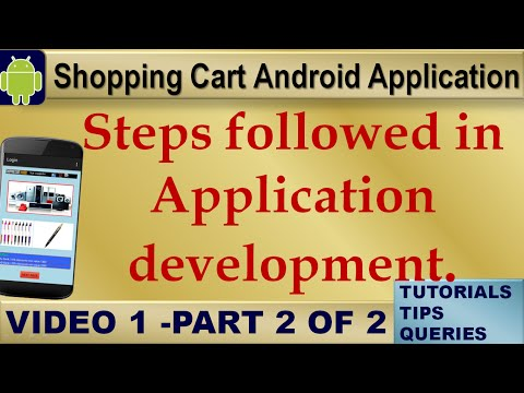 Android Tutorials Shopping Cart: Steps in Application Development. Eclipse,PHP,MySql,Video1-2