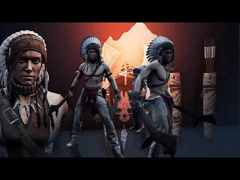 The Isle - Tribal Horses & Hunting! - Tribal Weapons & Armor Showcase, Tribal Structures! - Gameplay
