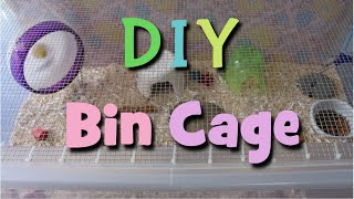 Diy Hamster Bin Cage-how To Make Build A Hamster Cage