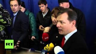 Ukraine: Radical Party leader Lyashko casts his vote in Kiev
