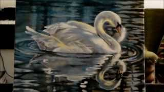 "Speed Painting Swan ""The Feather"""