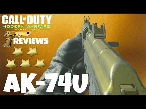 AK-74U Golden Weapon Review (Call of Duty: Modern Warfare Remastered)