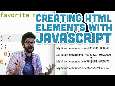 8.2: Creating HTML Elements with JavaScript - p5.js Tutorial