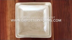 Pottery Tutorial : How to Make a Square Dinnerware Set