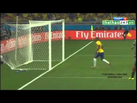 cơn mưa bàn thắng của Đức 7 -  1 Brazil ban kết World Cup 2014