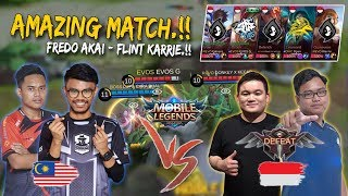 Fredo Akai, Flint Karrie Bantai Pro Player Indonesia!! Mobile Legends: Malaysia