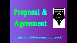 Proposal - Acceptance- Agreement Indian contract act 1872 | Valid Proposal - Acceptance- Agreement