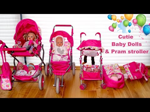 baby-dolls-pushchair-stroller-and-pram-unboxing-set-up-&-play-with-baby-born-baby-annabell