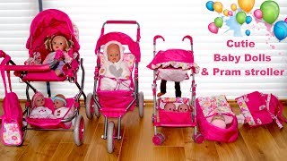 Baby Dolls Pushchair Stroller and Pram Unboxing Set Up & Play with Baby Born Baby Annabell