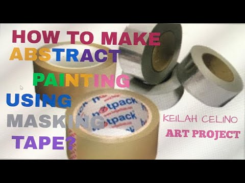 How I make Abstract Painting Using Masking Tape? Project by: Keilah Celino