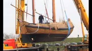 Replica van de WL19 uit Moddergat It Fiskersskip