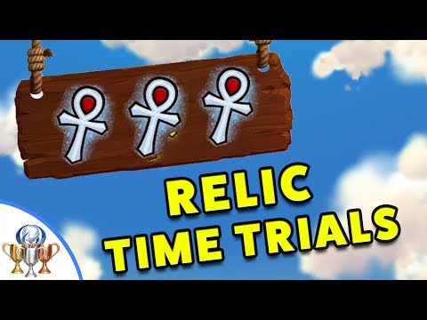 Crash Bandicoot 1 N. Sane Trilogy - All 26 Time Trial Relics (Gold and Platinum Time Trial Relics)