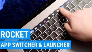 Rocket is an App Launcher & App Switch for the MacBook Pro Touch Bar