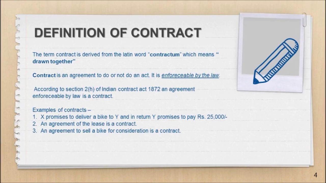 What Is Contract And Elements Of Valid Contract Revision Video For