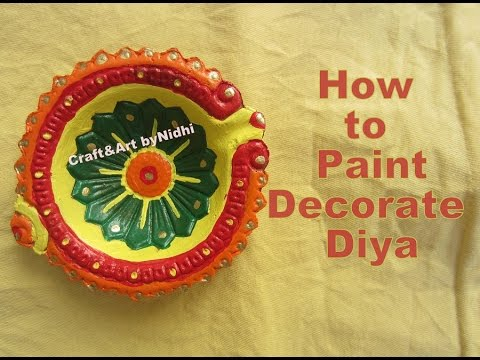 how to paint diya kodiya creative colorful diya