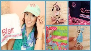 Beach Bags & Wine Glasses & Monograms OH MY! What's New at Glitzy Glam! | Blair Fowler Thumbnail