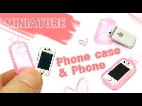 [DIY Miniature ]미니어쳐 핸드폰 & 폰케이스 세트 만들기  - how to make Phone & Phone case set