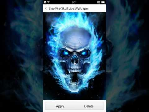 Blue Fire Skull Live Wallpaper - Apps on Google Play