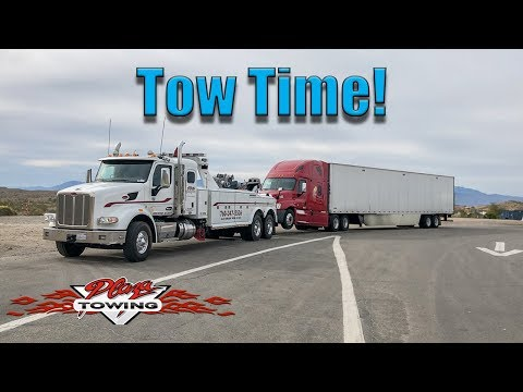 Tractor Trailer Tow! Quick Hook And Book Tow