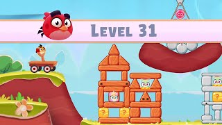 Angry Birds Casual Walkthough Level 31-40 (iOS Android Gameplay)