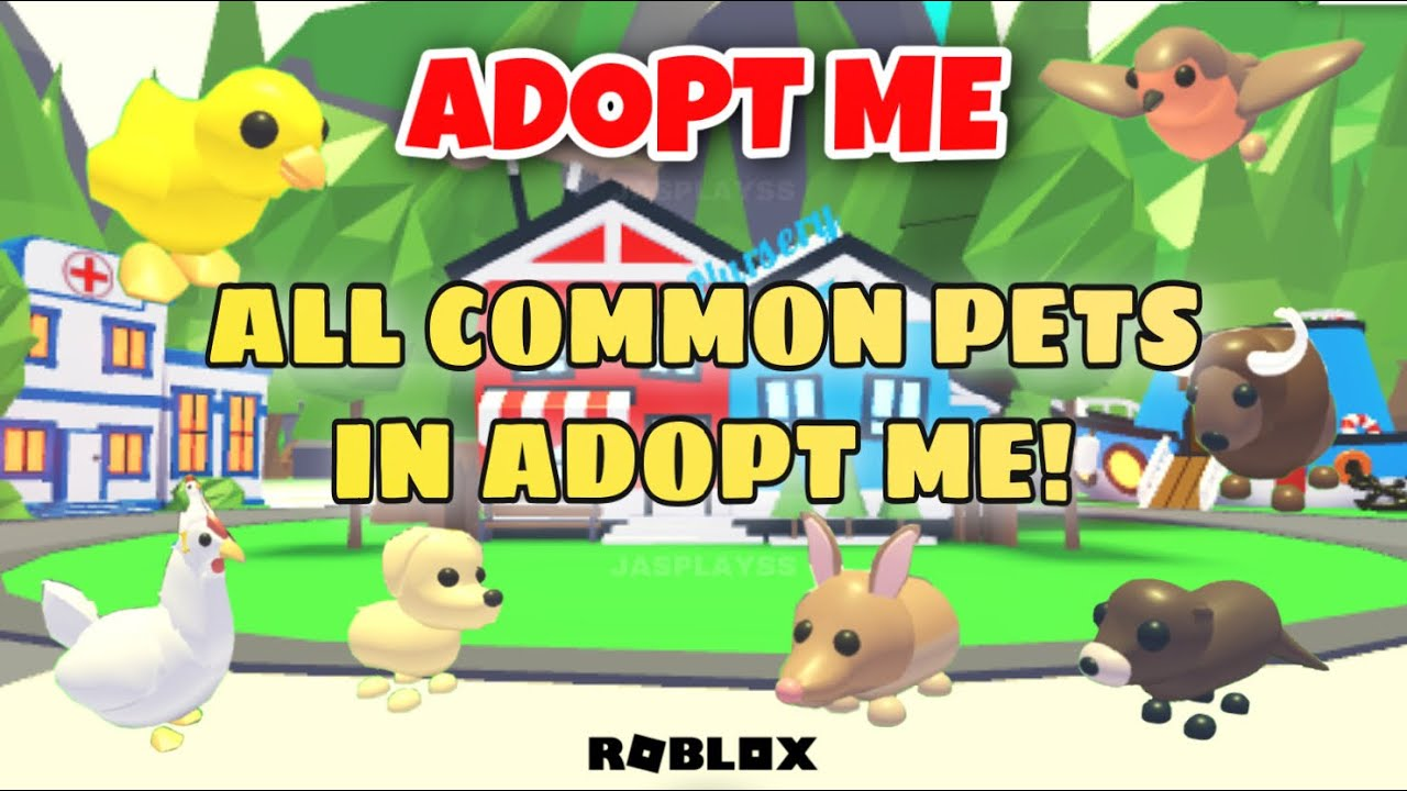 All Of The Common Pets In Adopt Me Roblox Adopt Me Jasplayss Youtube