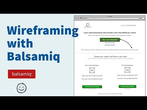Basics of wireframing using Balsamiq Mockups - Workflow of Modern Web Design Course