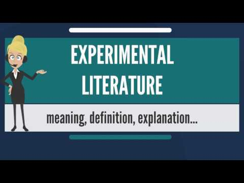 What is EXPERIMENTAL LITERATURE? What does EXPERIMENTAL LITERATURE mean?