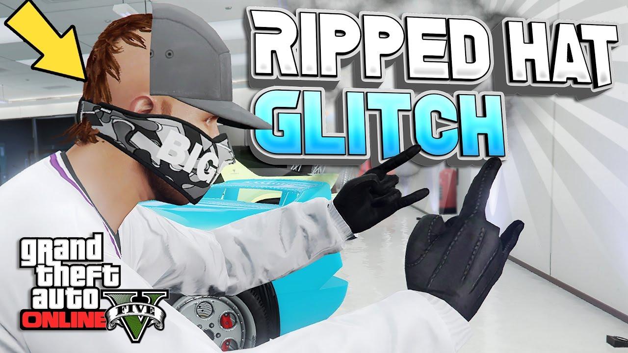 4cbf2666bbb GTA 5 Online - Ripped Hat Clothing Glitch 1.40! Half Hat Cool Modded ...