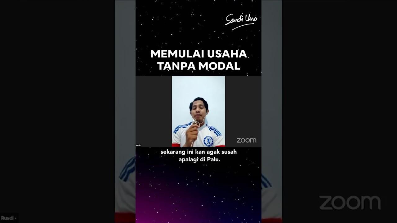 USAHA TANPA MODAL, EMANG BISA? By Bang Sandiaga Uno - YouTube