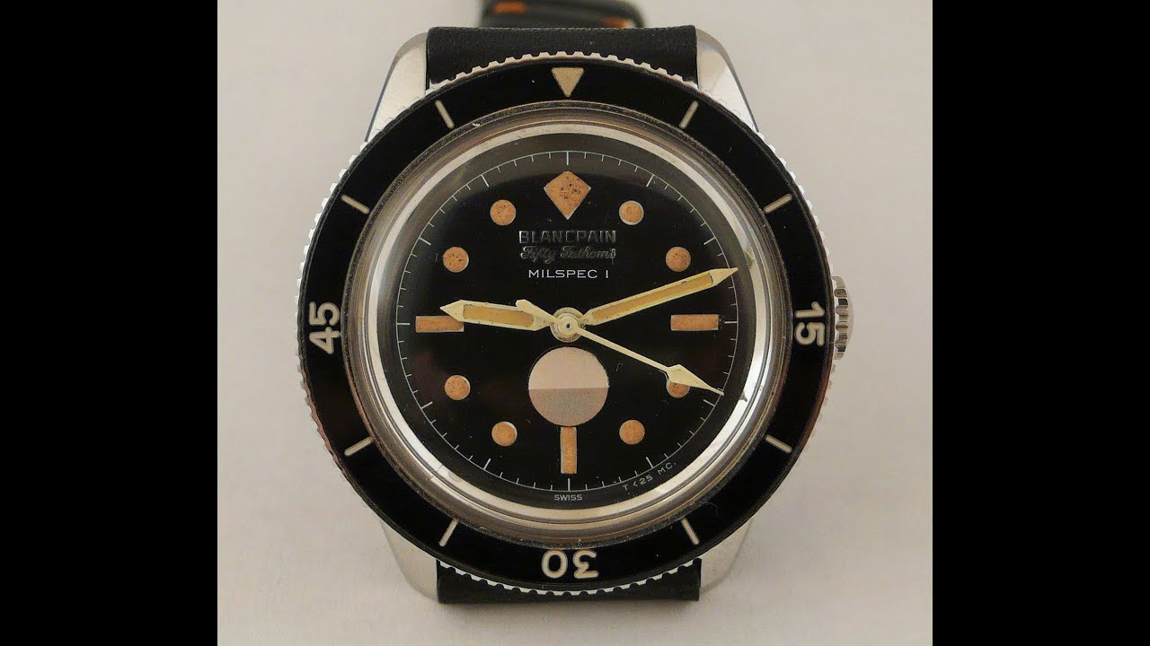 Vintage 1960 S Blancpain Fifty Fathoms Watch