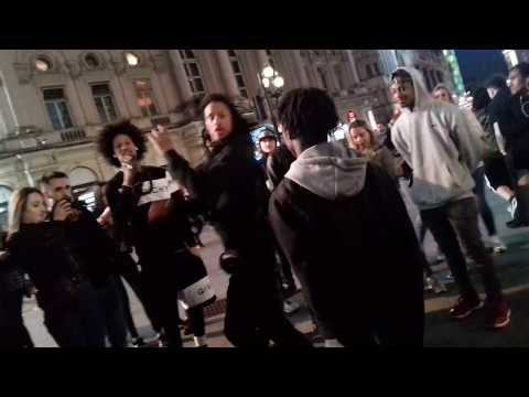 Les Twins at Piccadilly Circus 16th May 2018 - Laurent & Larry Appears in the Crowd like a Ninja lol
