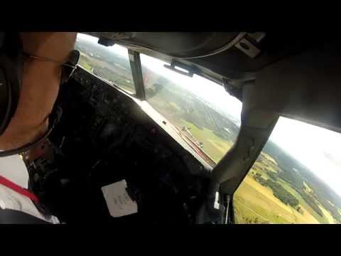 Approach and Landing in Stockholm Arlanda Airport ILS Runway 26, Sweden - Boeing 737-800NG