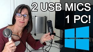 Record Two USB Mics At Once on Windows PC - Audacity & Reaper Tutorial