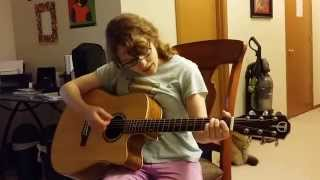 Diana learning Regret Message on guitar