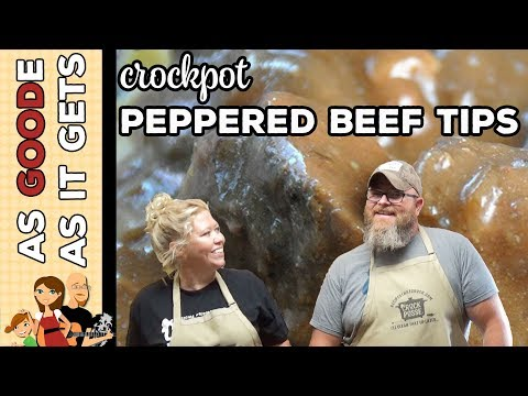 Easy Crock Pot Peppered Beef Tips
