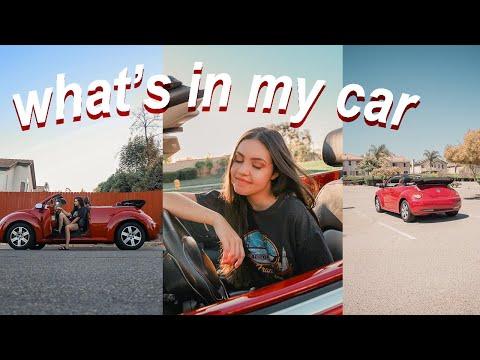 WHAT'S IN MY CAR! // volkswagen beetle convertible