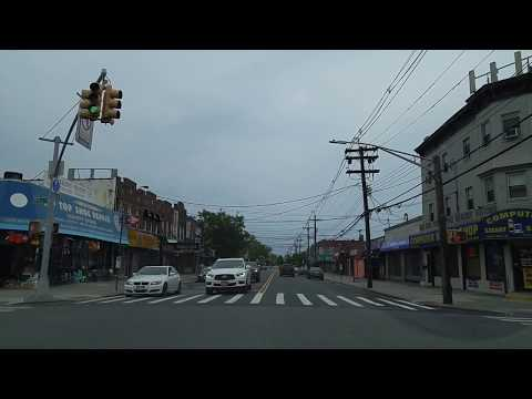 Driving from Flatlands to Marine Park in Brooklyn,New York