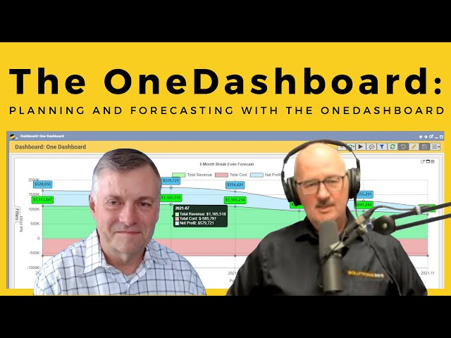 The OneDashboard Part 2: Planning and Forecasting with the OneDashboard