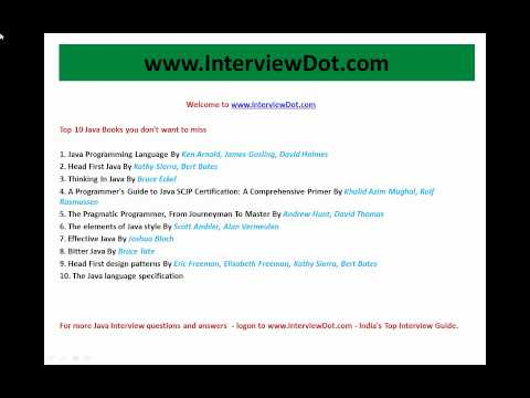 Prepare for Java interview Top 10 Java Books you don't want to miss