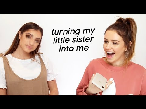 Turning My Little Sister Into Me!! OMG