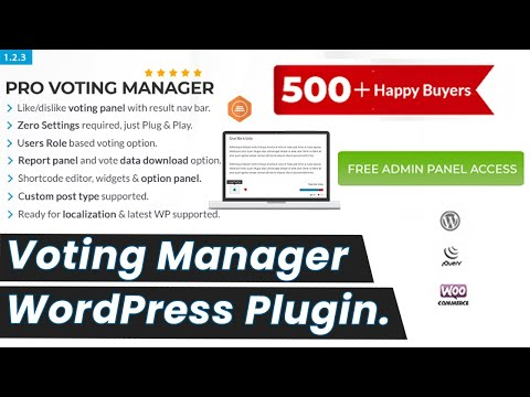 BWL Pro Voting Manager WP Plugin Video Review