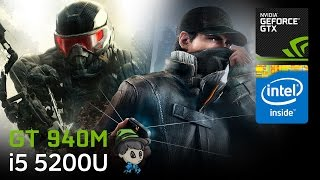 GT 940M Gaming ASUS X555LB Crysis3, Watch Dogs, FIFA15 Part3
