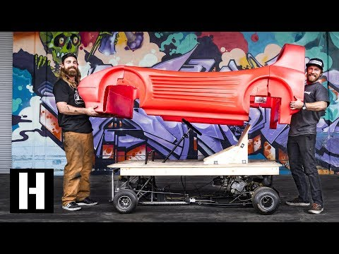 ShredBed Frame Test: Chopped and Screwed GoKart Chassis Runs!