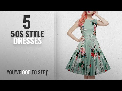 Top 10 50S Style Dresses [2018]: IHOT Women's Vintage 1950s Classy Rockabilly Retro Floral Pattern