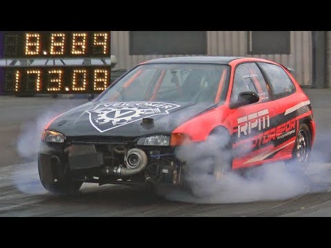 RPM Motorsport Honda Civic SMASHES into the 8s