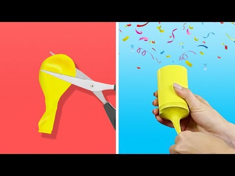 17 IDEAS FOR THE BEST KIDS' PARTY EVER || DIY PARTY POPPERS