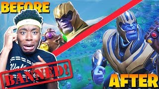 I GOT BANNED USING THE *NEW* THANOS in Fortnite: Battle Royale! SADDEST FORTNITE ENDING EVER...