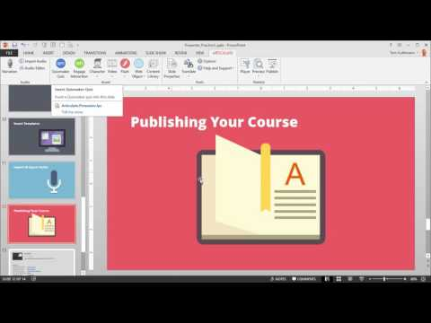 Articulate 360 Tutorial: How to Preview & Publish Your Online Course in Presenter 360